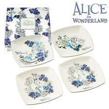 Disney Alice in Wonderland Plate 4P set dish Elegant Made in Japan New F/S