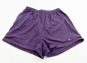 Vintage Champion Athletic Shorts Womens Large Purple Made In USA