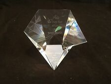 STEUBEN  CRYSTAL MULTIFACETED PAPERWEIGHT- AND THE DAY STAR ARISE IN YOUR HEARTS