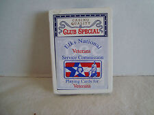 Bee Cambric Finish Elks National Veterans Service Commission Playing Cards!