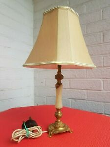 Brass Vintage Bedside Lamp, Very Good Conditionwith two shades