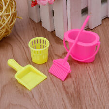 4Pcs Home Furniture Furnishing Cleaning Cleaner Kit For Barbie Doll House Set