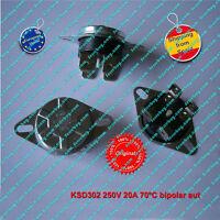 Termostato (1Pz) KSD302 250V 20A  70ºC NC, bipolar, Auto Reset Thermo