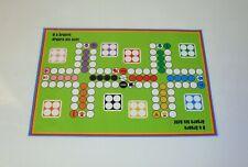 Selbsthaftender Spielplan 8 x ärgern A3 Ludo für 8 Personen für Tisch und Wand