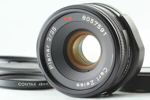 Rare! [Top MINT] Contax Carl Zeiss Planar T* 35mm f2 Black Lens for G From JAPAN