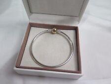 New w/GIFT SET Pandora Large Gold Clasp Bangle Bracelet 21 CM 8.3 in 590718-21