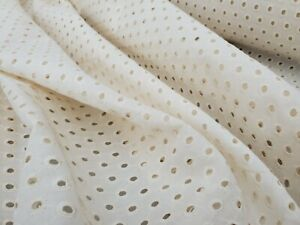 Broderie Anglaise on cotton lawn, 'Louise' (per metre) dress fabric, sewing