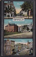 B82054 oppeln Opole  moltkestrasse mit hoherer madchens  poland front/back image