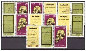 DDR 1365-67 Zusammendrucke Marx gestempelt