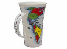 Porzellanbecher mit Weltkarten Design tolles Geschenk DUNOON