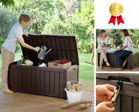Storage Deck Box Outdoor Container Bin Chest Patio Keter 101 Gallon Bench Seat