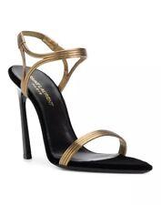 $895 Authentic Yves Saint Laurent Talitha 105 Sandals Heels Size 7.5 YSL