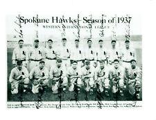 1937 SPOKANE HAWKS INDIANS WIL 8X10 TEAM PHOTO USA BASEBALL