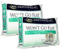 Sertapedic Won't Go Flat Pillow Queen Size Serta Comfort Bed Set of 2 Pillows