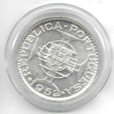 Macau(Portuguese Colony) 1952 5 Patacas Silver Coin KM-5 Choice BU W/Luster