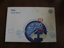 VW POLO OWNER'S MANUAL - 1997