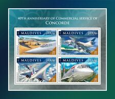 Maldives 2016 MNH Concorde Commercial Service 40th Anniv 4v M/S Aviation Stamps