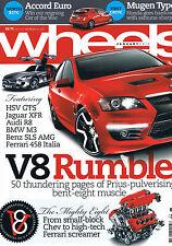 Wheels Jan 10 HSV GTS Jag XFR Audi R8 M3 SLS AMG 458 Tiguan CX-7 Megane 250 Gall