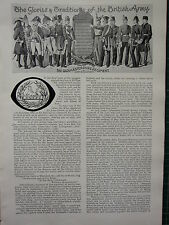 1896 ILLUSTRATED ARTICLE ~ GLOUCESTERSHIRE REGIMENT ~ BRITISH ARMY