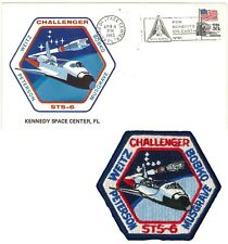 Launch Event Postal Cover & Patch Space Shuttle CHALLENGER mission STS-6