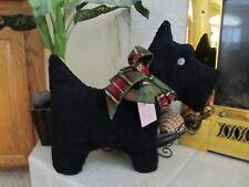 Adorable FestiveBlack Chenille Scottie Dog