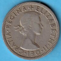Great Britain -1957 - Elizabeth II.- Florin -Two Shillings Copper-Nickel Münze