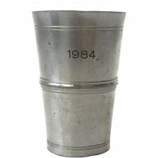 Vintage Ibaehler Etain Fin Feinzinn German 95% Pewter 1984 Tall Shot Glass.