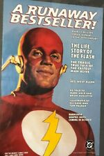 """THE LIFE STORY OF THE FLASH HC GN (1997) DC Comics 11"""" x 17"""""""" promotional poster"""