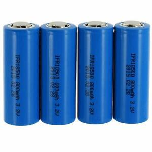 Exell Replacement for BT-LP-18500-8501, LiFePO418500, 18500 Battery (Pack of 4)