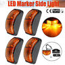 Universal 4 Pcs Side Marker Light Trailer truck 2 Diode Clearance LED Amber Lamp