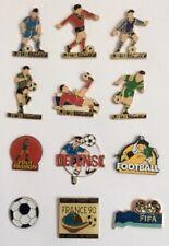 Lot 12 Pin's  Football Soccer Attitudes Loto Sportif TV World Cup 98 FIFA
