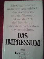 Das Impressum von Hermann Kant