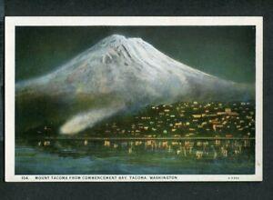 Vintage Postcard Mount TACOMA or RAINIER Commencement Bay Washington 443112