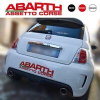 Adesivo Abarth Fiat 500 assetto corse squadra tuning grande punto evo stickers 1