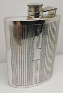 Antique Sterling Silver Art Deco Large Flask
