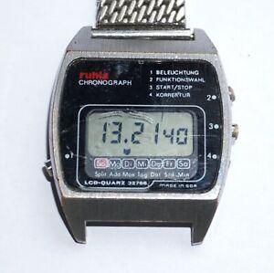 Ruhla Chronograph LCD-Quarz 32768 Herren Armbanduhr DDR 1980er Jahre