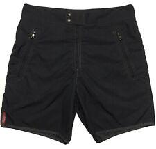 Prada Italy Mens 46 Black Swimwear Swim Trunks Board Shorts Mesh Liner 30X17