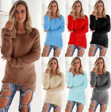 UK Womens Warm Long Sleeve Sweater Ladies Sweatshirt Jumper Hoodies Tops Blouse