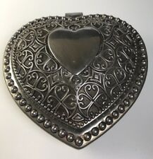 Vintage Silver Plated Lined Heart Shaped Jewelry Box Godinger Silver Art Co.