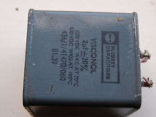2µF 2MFD 2UFD 20%  1000V  PLESSEY OIL FILLED BLOCK PAPER CAPACITOR  NEW  1PC