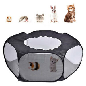 Folding Pet Game Fence Outdoor Indoor Exercise Crawling Small Animal Tent