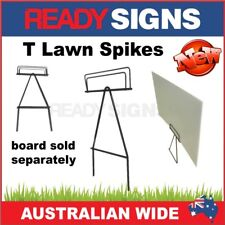 T Spike Sign Lawn Frame  - T Wire Sign Stake for Corflute Signs - Ready Signs