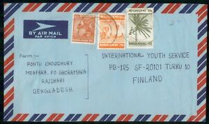 Mayfairstamps BANGLADESH COMMERCIAL 1978 COVER RAJSHAHI TO FINLAND wwk29759