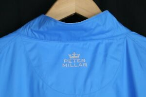 Peter Millar Wind XXL Blue Lightweight Pullover Windbreaker Mens Zipper Pocket