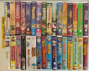 Verschiedene VHS-Kassetten, verschiedene Walt Disney, Dachbodenfund, 34 St.