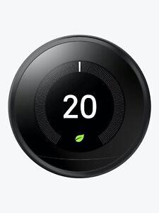 Nest Google Learning Thermostat 3rd Gen in Black Model
