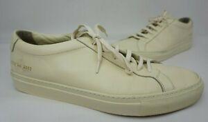 Common Projects Men's Achilles Low Warm White Sneakers Size 44 EU / 11 US