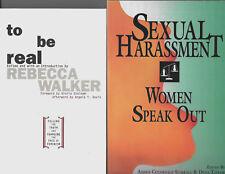 Lot of 2 Books on Women's Studies Feminism Sexual Harassment