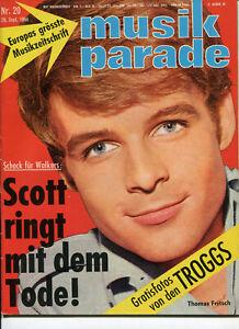 Beat Magazin: musik parade 1966, Nr.20, 26.9.66 Deutsche Musikzeitschrift  60er