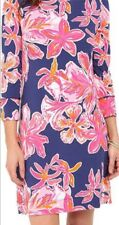 Lilly Pulitzer Sophie Dress UPF 50+ Bright Navy Via Sunny Size XL New